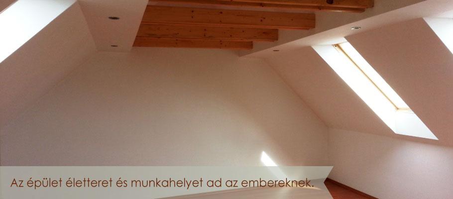 Irodaház tetőtere